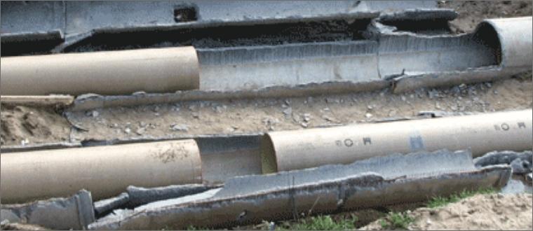Санация (разрушение старой трубы с прокладкой новой) трубопроводов различного назначения